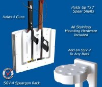 DEEP BLUE VERT-4 SPEARGUN RACK