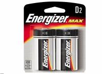 ENERGIZER D BATT 2 PAC