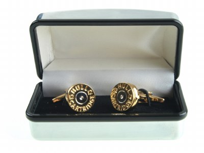 Derek Lee Gunsmiths Cartridge End Country Cufflinks