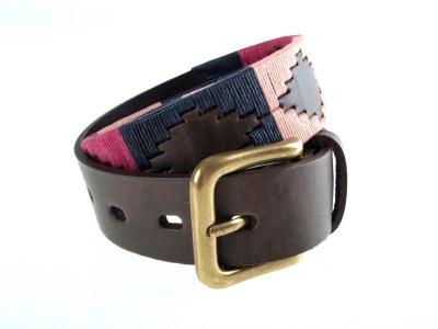 Pioneros Polo Belt Berry/Navy/Pink