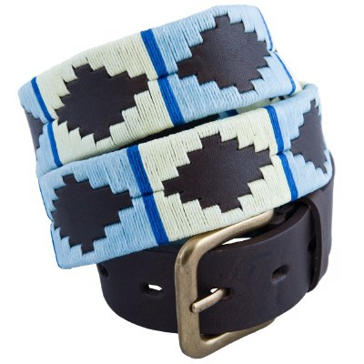 Pioneros Polo Belt Pale Blue/ White/ Blue Stripe