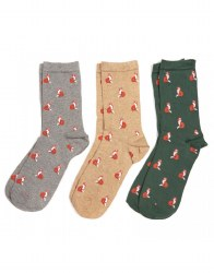 Barbour Fox Sock Gift Box