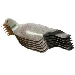 East Anglia Flock Coated Pigeon Decoy (6pk)