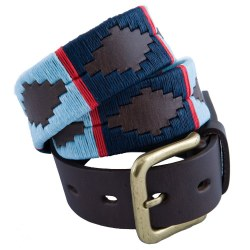 Pioneros Polo Belt Navy/ Pale Blue/ Red Stripe