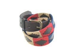 Pioneros Polo Belt Navy/Red/Cream