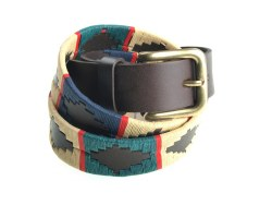 Pioneros Polo Belt Red Stripe