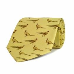 Derek Lee Gunsmiths Cream Standing Pheasant Tie
