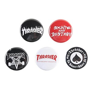 Thrasher Logo Buttons
