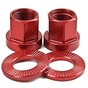 The Shadow Conspiracy Alloy Axle Nuts Red 14mm