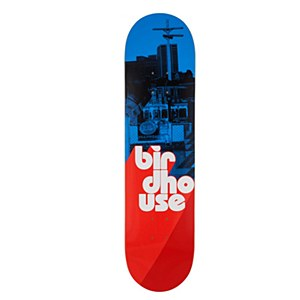 """Birdhouse Stacked Logo Blue/Red 8.00"""""""