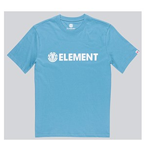 Element Blazin T-Shirt Blue Fade Medium