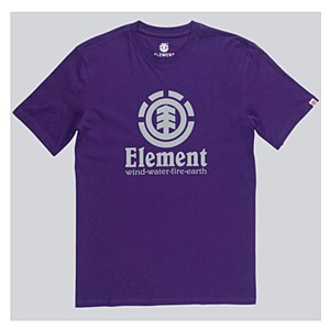Element Vertical T Shirt Purple Medium