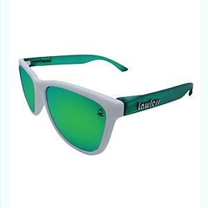 Lawless Eyewear Bandit Sunglasses White Green - Green