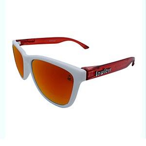 Lawless Eyewear Bandit Sunglasses White Red - Red