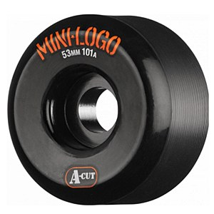 Mini Logo A-Cut Wheels Black 101a 53mm
