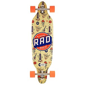 Rad Board Co. Wallpaper Longboard Orange