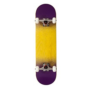 Rocket Skateboards Twin Fade Complete Yellow-Purple 7.75