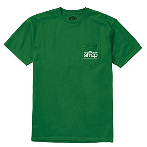 Sheep Pocket T-shirt Green Large