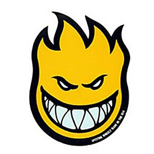 "Spitfire Sticker Bighead Yellow 2"""