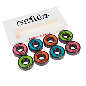 Sushi Bearings Firecracker Sevens  Go out with a bang.  Ingredients – Precision Abec 7 chrome steel bearings with rubber shields