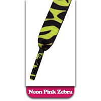Mr Lacy Printies Neon Lime Yellow Zebra