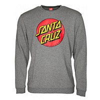 Santa Cruz Classic Dot Crew Dark Heather Medium