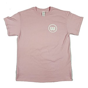 Wreckless Circle Logo T-Shirt Pink Large