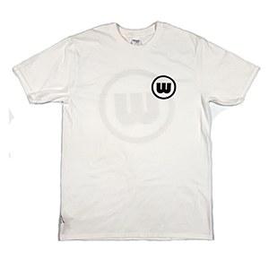 Wreckless Circle Logo T-Shirt White Medium