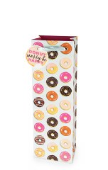 Donut Pattern Wine Bag