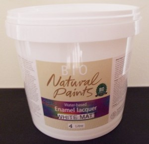 Bio Enamel Lacquer Matt White 4L Water-based
