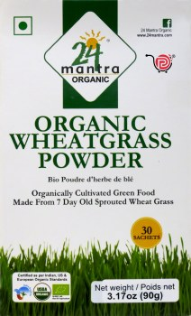 24 Mantra Organic Wheat Grass Powder 100g