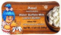 Amul Butter Lactic 500g Unsalted Buffalo Milk