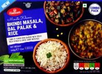 Haldiram's Bhindi Masala Thali Dal Palak 12oz