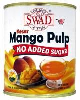 Swad No Sugar Mango Pulp Kesar 850gm