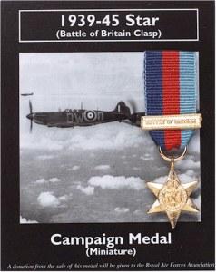 Miniature 1939-45 Star Battle of Britain Clasp