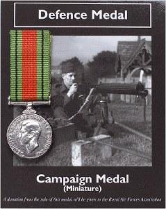 Defence Medal Miniature Replica