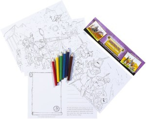 Medieval Colouring Cards