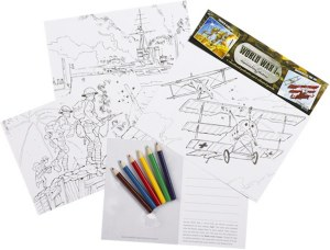 World War I Educational Colouring Cards