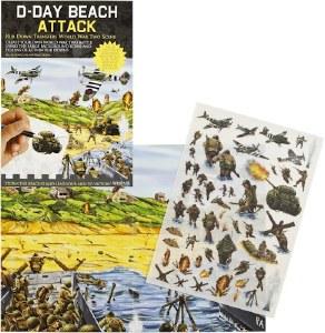 Rub-Down Transfers D-Day Beach Attack