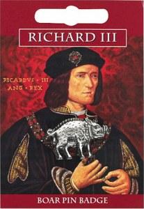 Richard III Boar Pin Badge Pewter