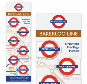 Bakerloo Line Magnetic Page Markers
