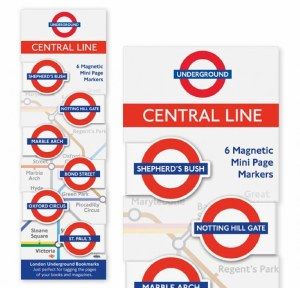 Central Line Magnetic Page Markers