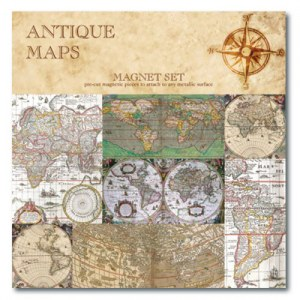 Antique Maps Magnet Set