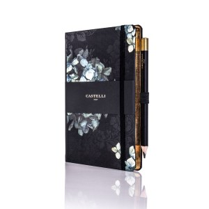 Hydrangea Midnight Floral Notebook