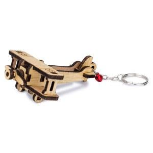 Wooden Bi-plane Keyring