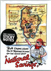 'Bob Saving' National Savings Poster, 1946 Sticky Note Block