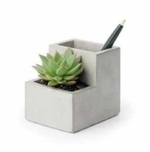 Concrete Small Planter and Pen Holder