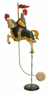Medieval Knight Balance Sculpture