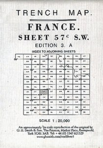 Trench Map : France Sheet 57C SW Edition 3A