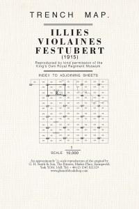 Trench Map : Illies, Violanes, Festubert